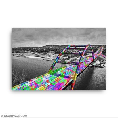 Canvas Print, 360 Pennybacker Bridge – Austin, Texas