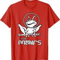 Weird alien sci-fi frog from planet mars T-Shirt