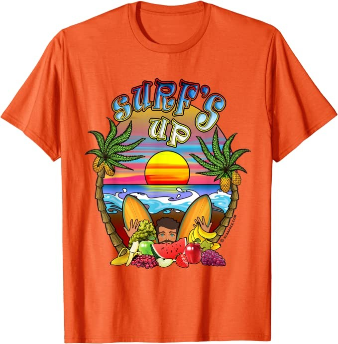 Surf\'s Up with Beach Sunset Funny Gift Watermelon Sugar T-Shirt