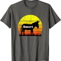 Smart Ass Funny Casual Donkey Sunset Casual Tee T-Shirt