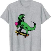Youth and Adult Matching T-Rex Skate Punk Tyrannosaurus Rex T-Shirt
